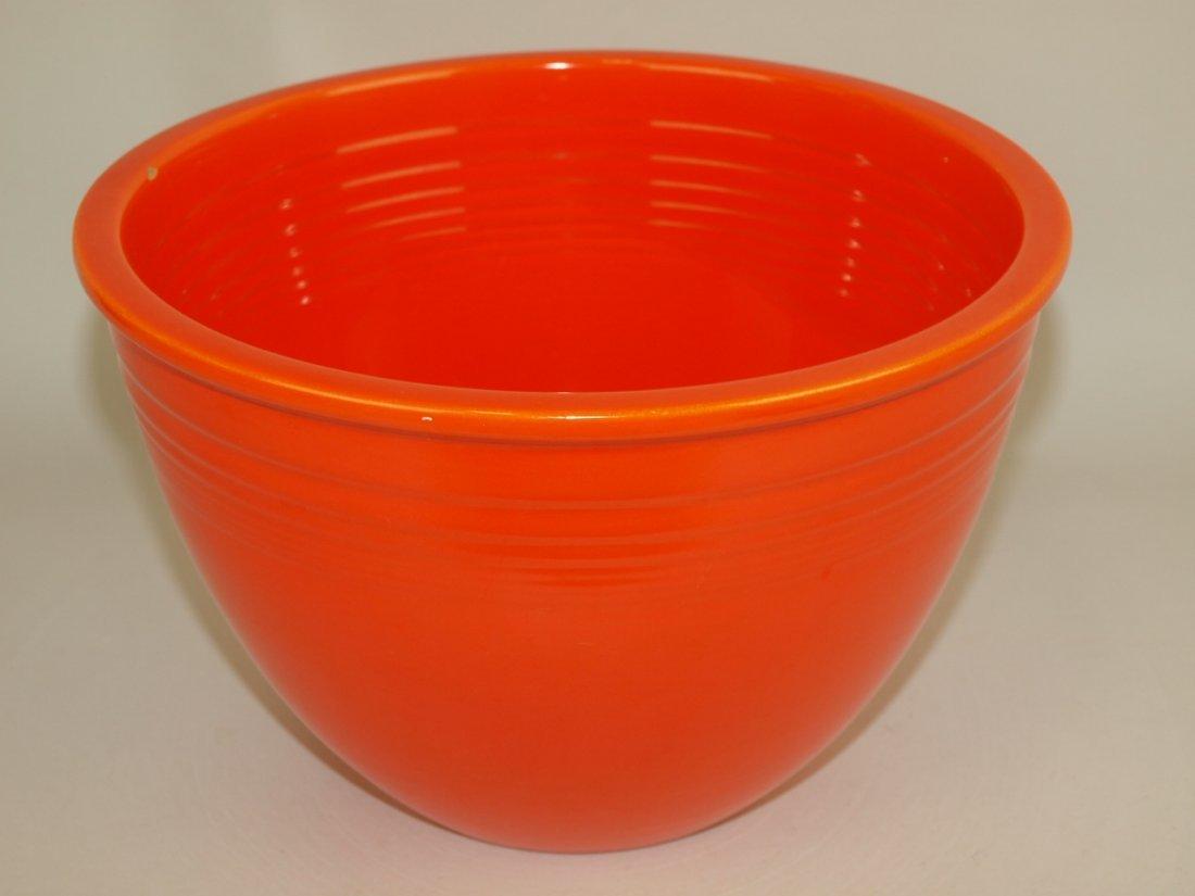 Fiesta #5 mixing bowl, red, inside rings, nick