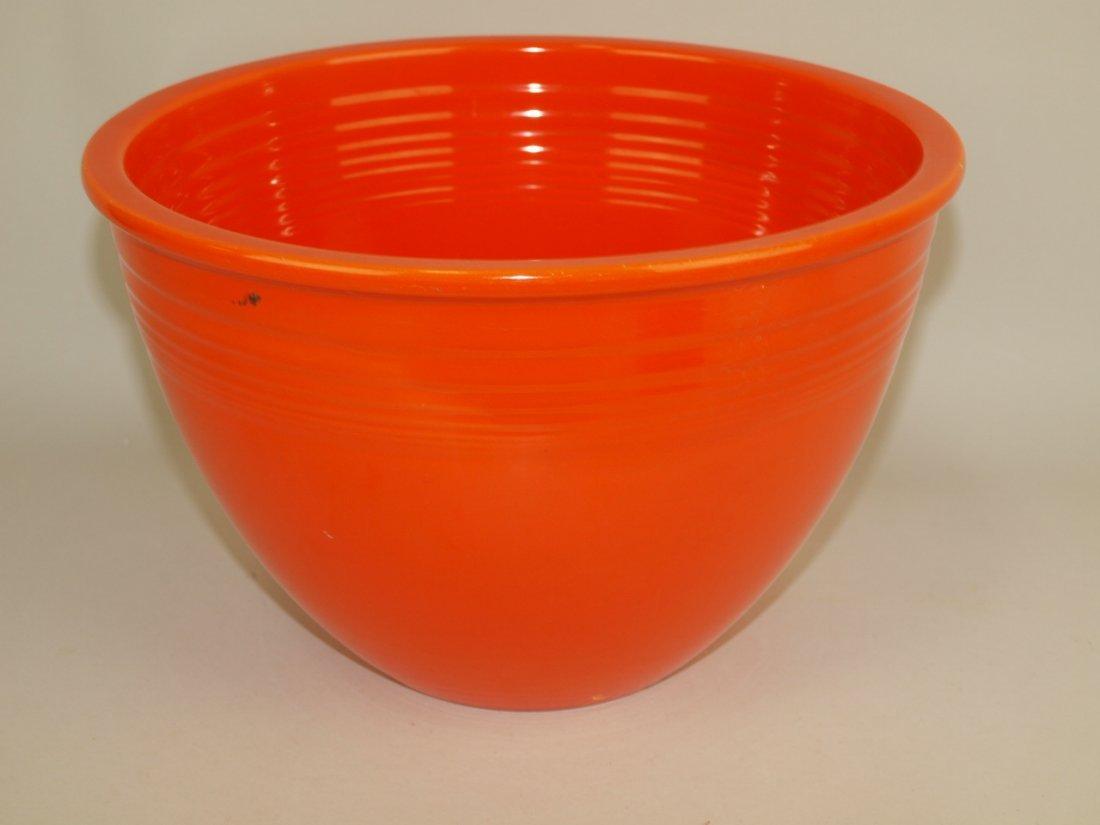 Fiesta #6 mixing bowl, red, nick