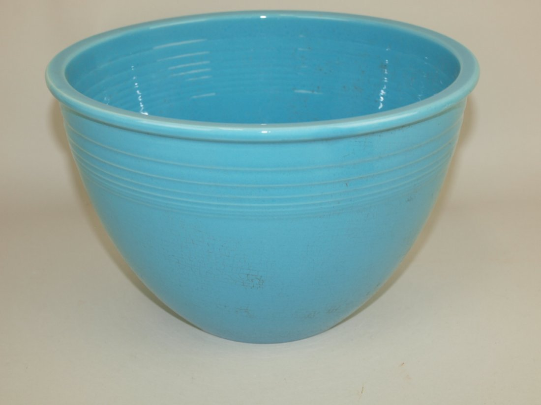 Fiesta #6 mixing bowl, turquoise, crazing