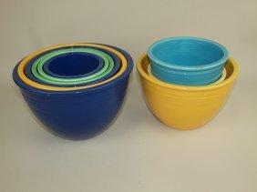 Mixing Bowl Lot Of 9, Mixed Colors & Sizes, Various