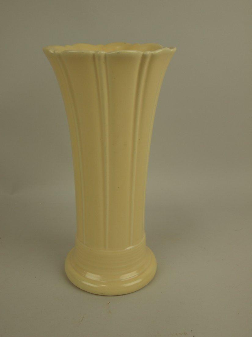 """Fiesta 10"""" flower vase, ivory, hairline"""