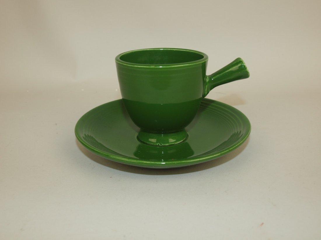 Fiesta demitasse cup & saucer, dark green