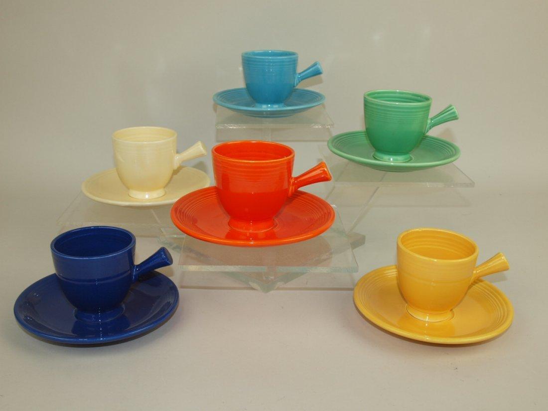 Fiesta demitasse cup & saucer, all 6 original colors