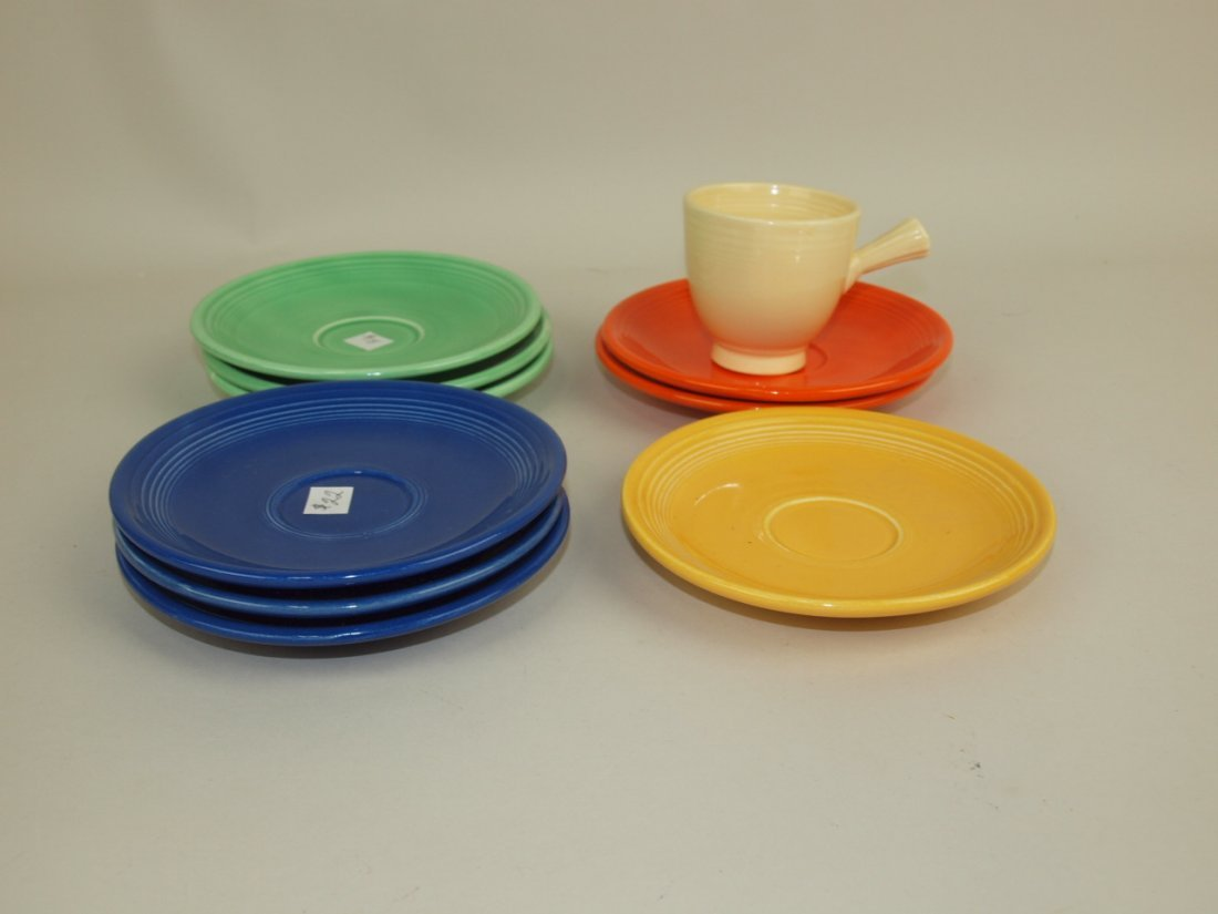 Fiesta demitasse cup & saucer group: ivory cup,