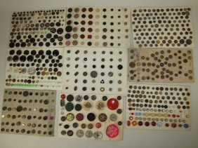 Lot of 9 cards of antique buttons