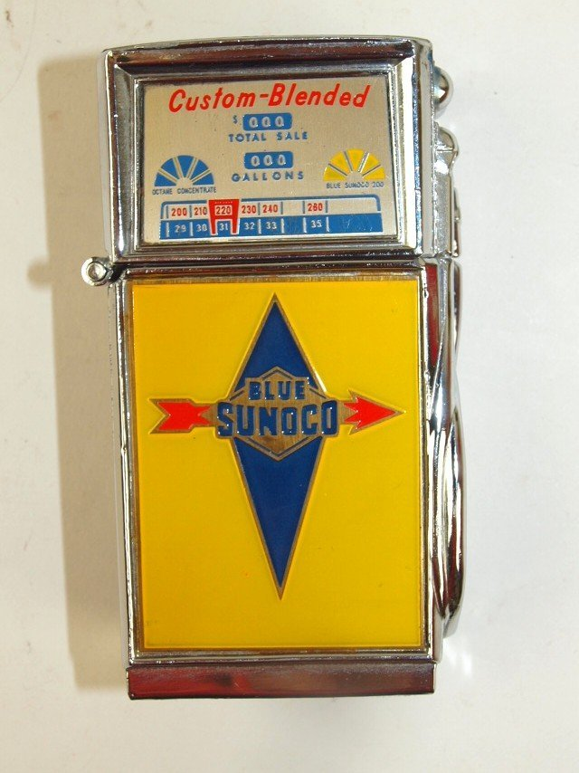 Sunoco table cigarette lighter, loss of label on back,