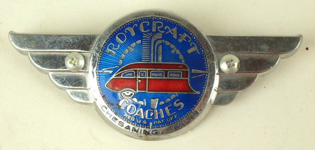 Roycroft Motor Coaches badge emblem