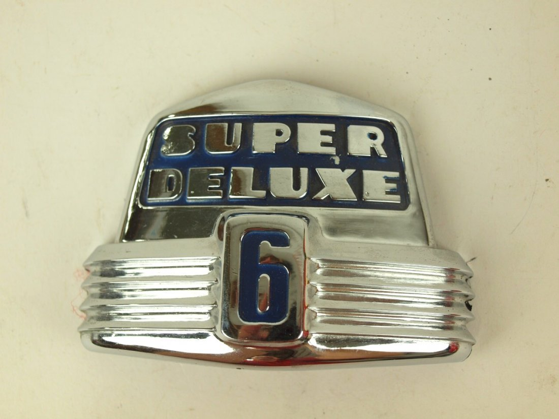 Ford Super Deluxe 6 grill emblem