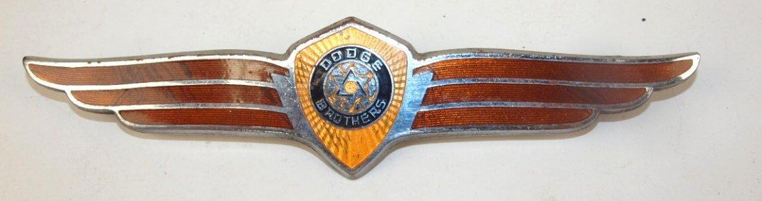 """Dodge Brothers winged badge emblem, 8"""""""