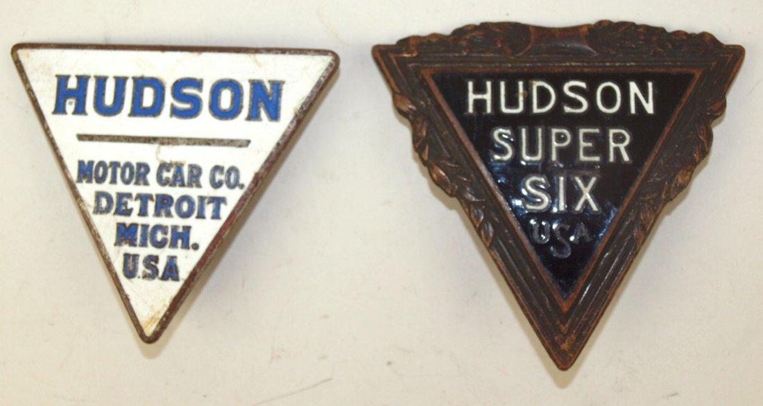 Hudson lot of 2 enameled badge emblem