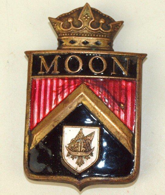 Moon enameled badge emblem