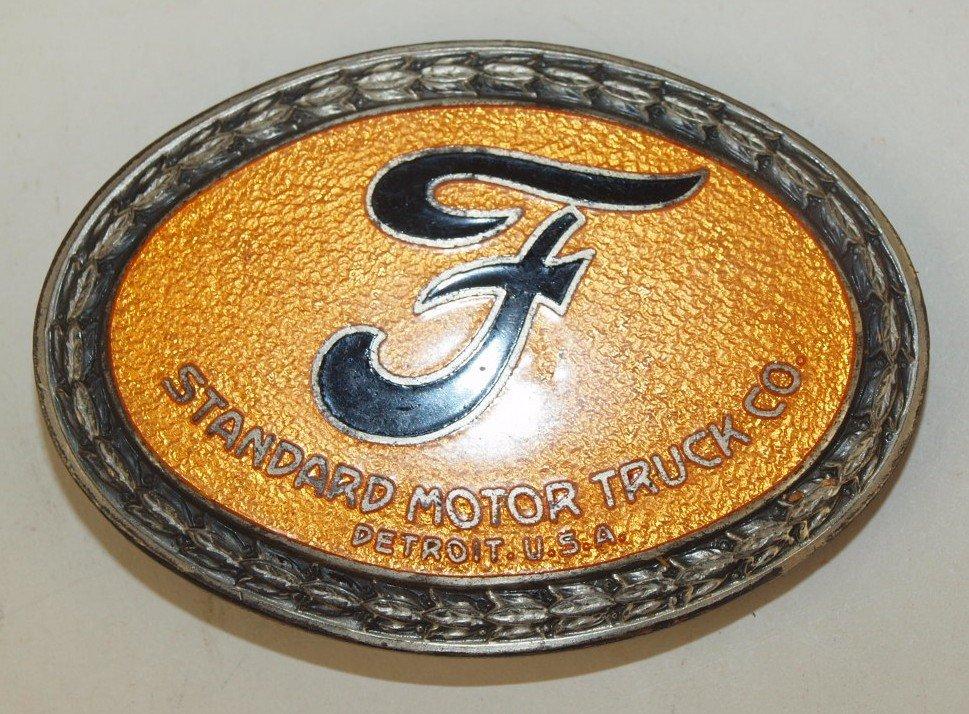 Ford Standard Motor Truck Co enameled emblem badge