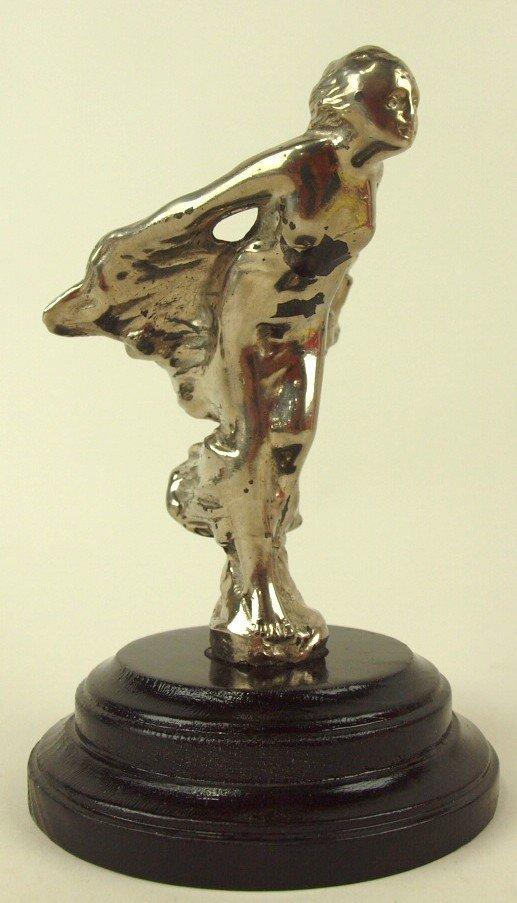 "L.V. Aronson lady hood ornament, circa 1922, 6"""