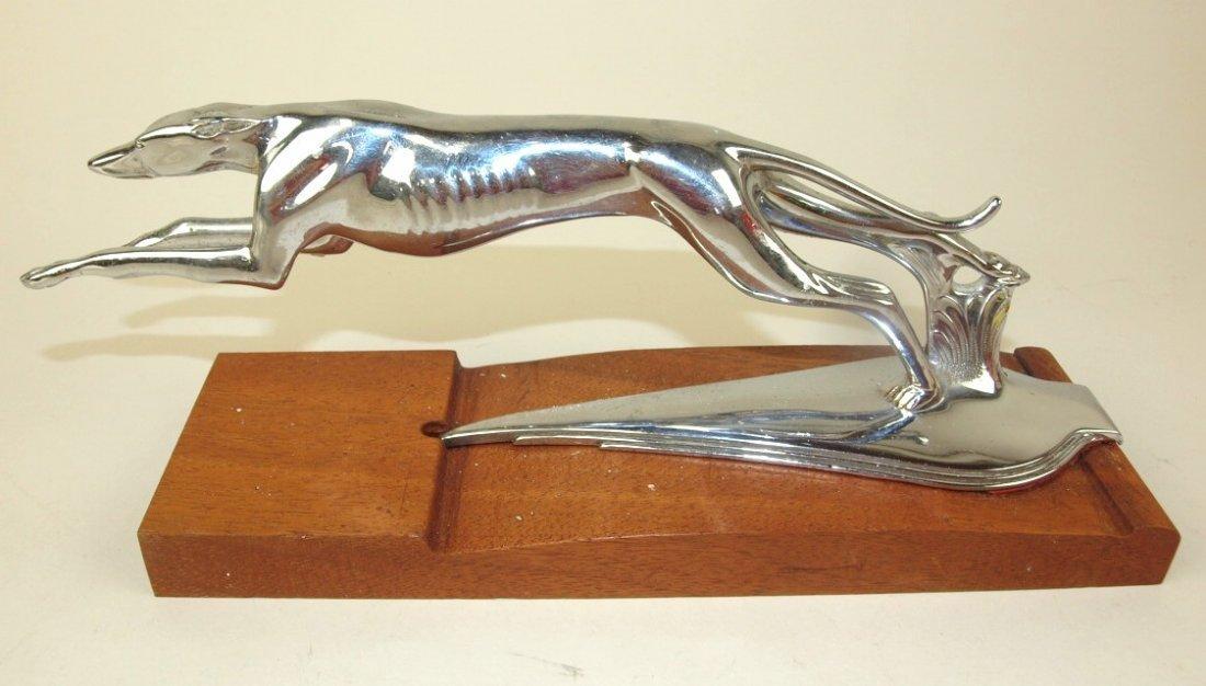 1934-37 Lincoln greyhound hood ornament radiator cap, 2