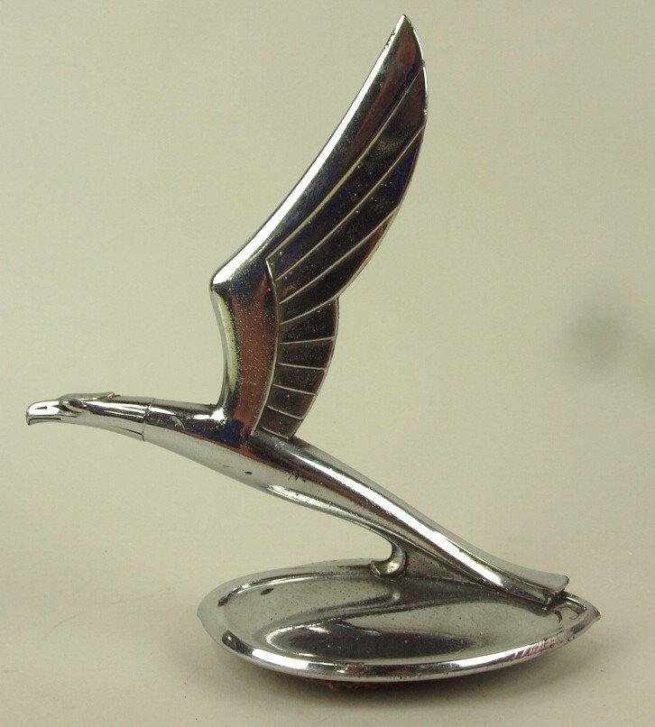 "1933 Chevrolet eagle hood ornament radiator cap, 7""h, 6"