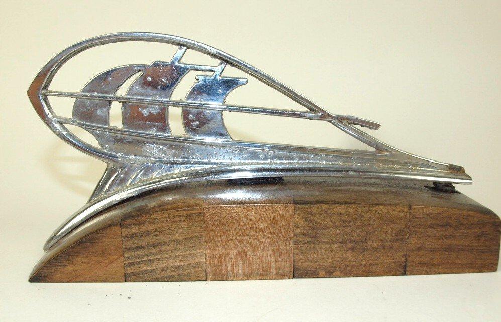 1934-35 Plymouth ship & 1936 Plymouth ship hood - 3