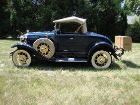 1931 Ford Model A Deluxe Roadster, Older Restoration,