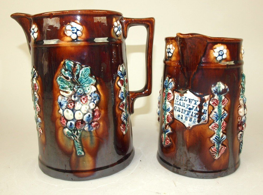 Measham Bargeware pair of pitchers both made for