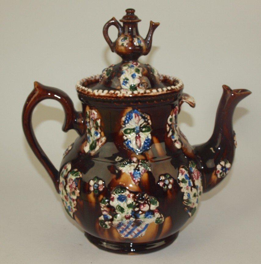 """Measham Bargeware large coffee pot """"Mrs Troughton, - 3"""
