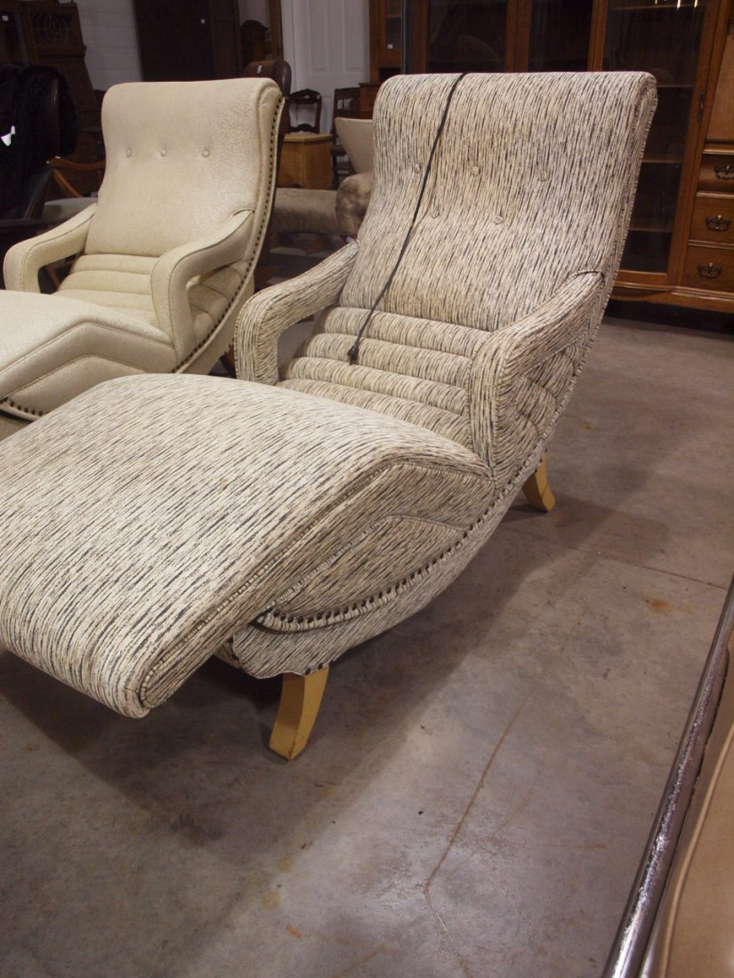 Mid century modern contour lounge massage chair works, - 3