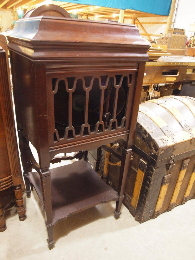Edison mahogany phonograph, missing parts