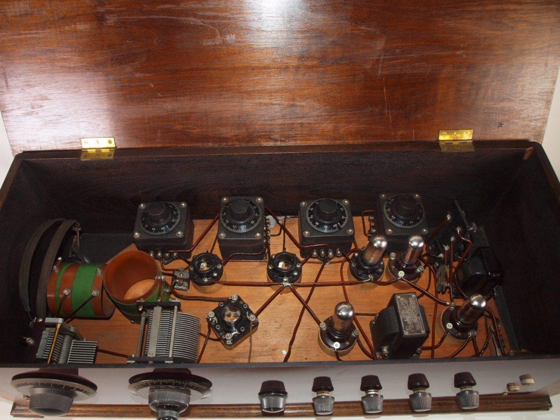 "Radio Industries Tropaformer tube radio 32 1/2"" - 2"