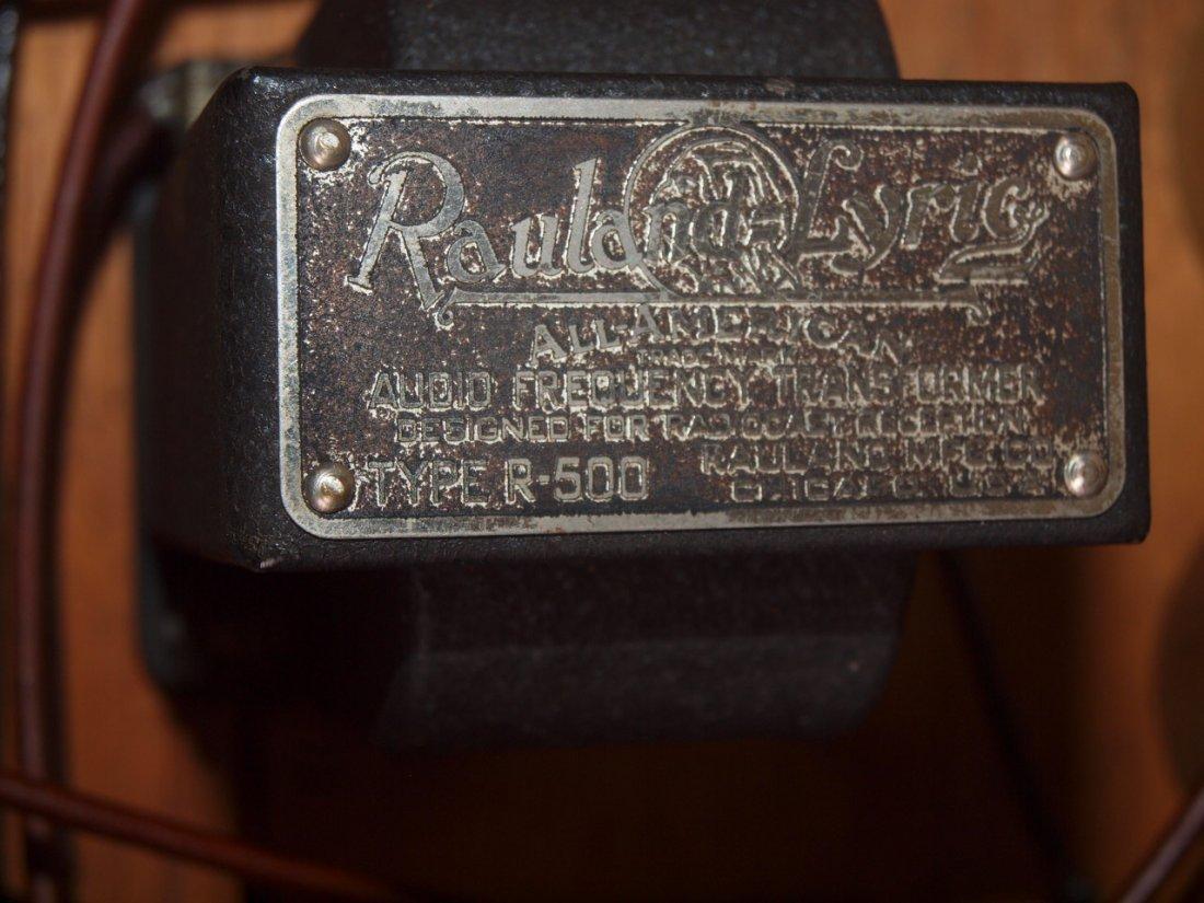 "Radio Industries Tropaformer tube radio 32 1/2"" - 3"