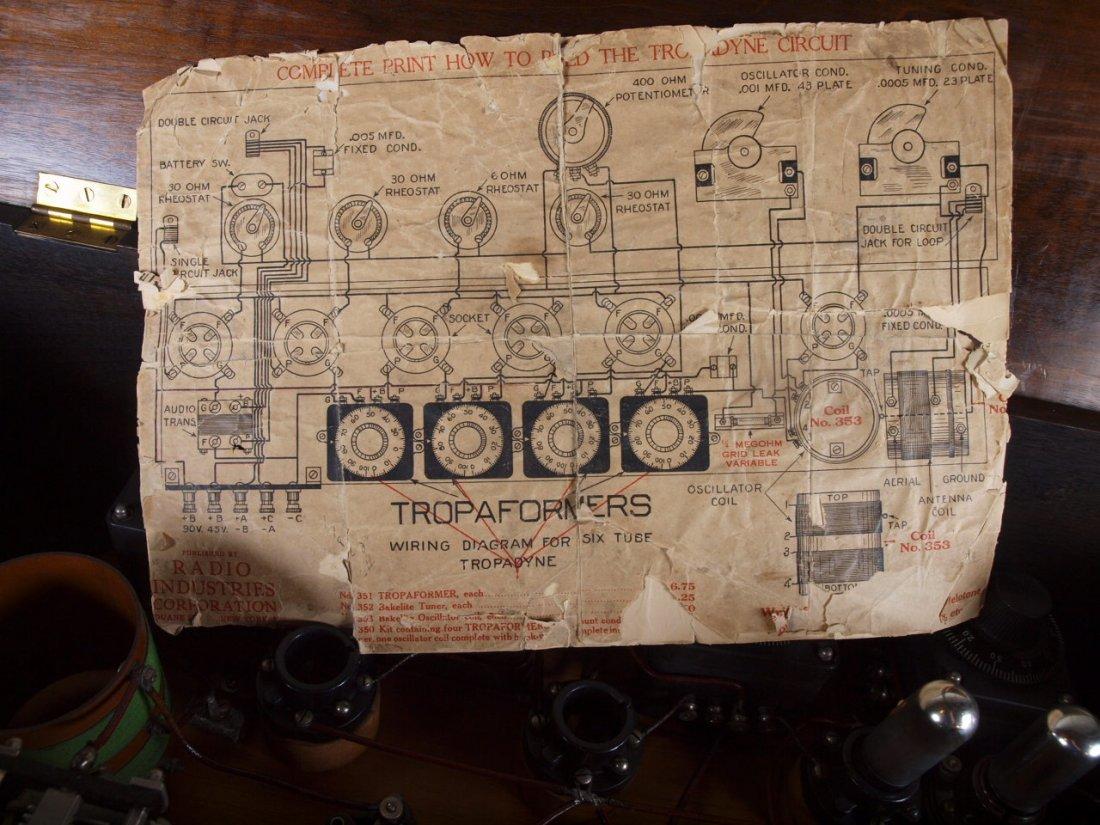"Radio Industries Tropaformer tube radio 32 1/2"" - 4"