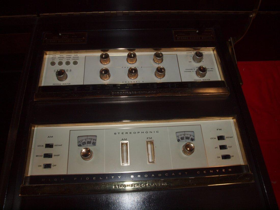Mid century modern Stromberg Carlson console stereo, - 4