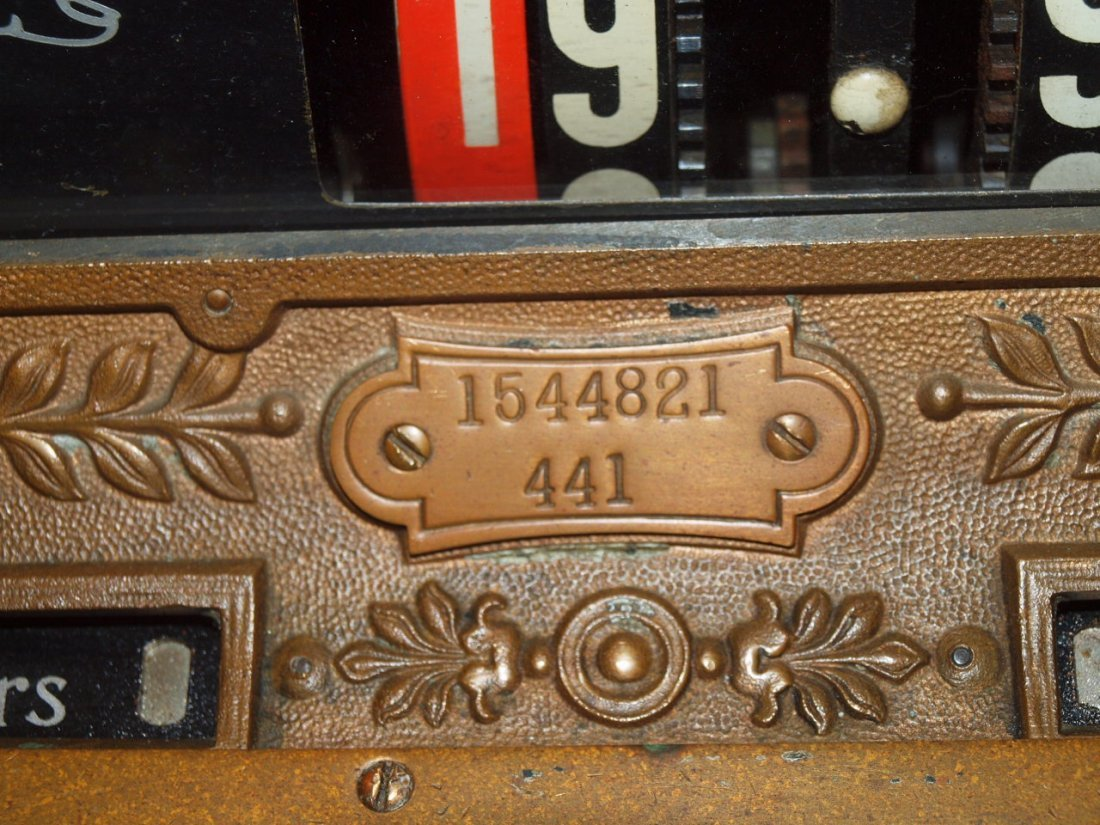 """National Brass cash register #441, 20""""w, 16 1/2""""d, - 5"""