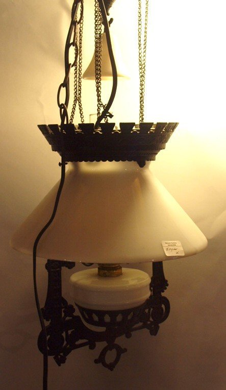 Cast iron pull down hanging kitchen lamp with smoke - 2