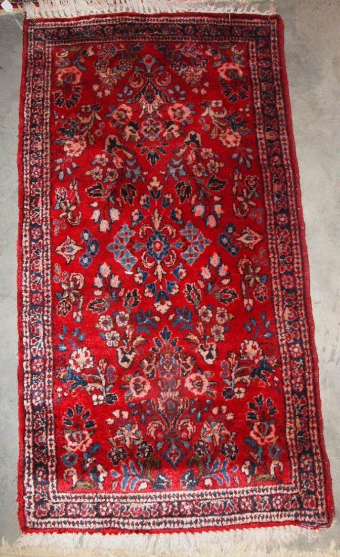"Royal Sarouk oriental rug 49"" x 26"""