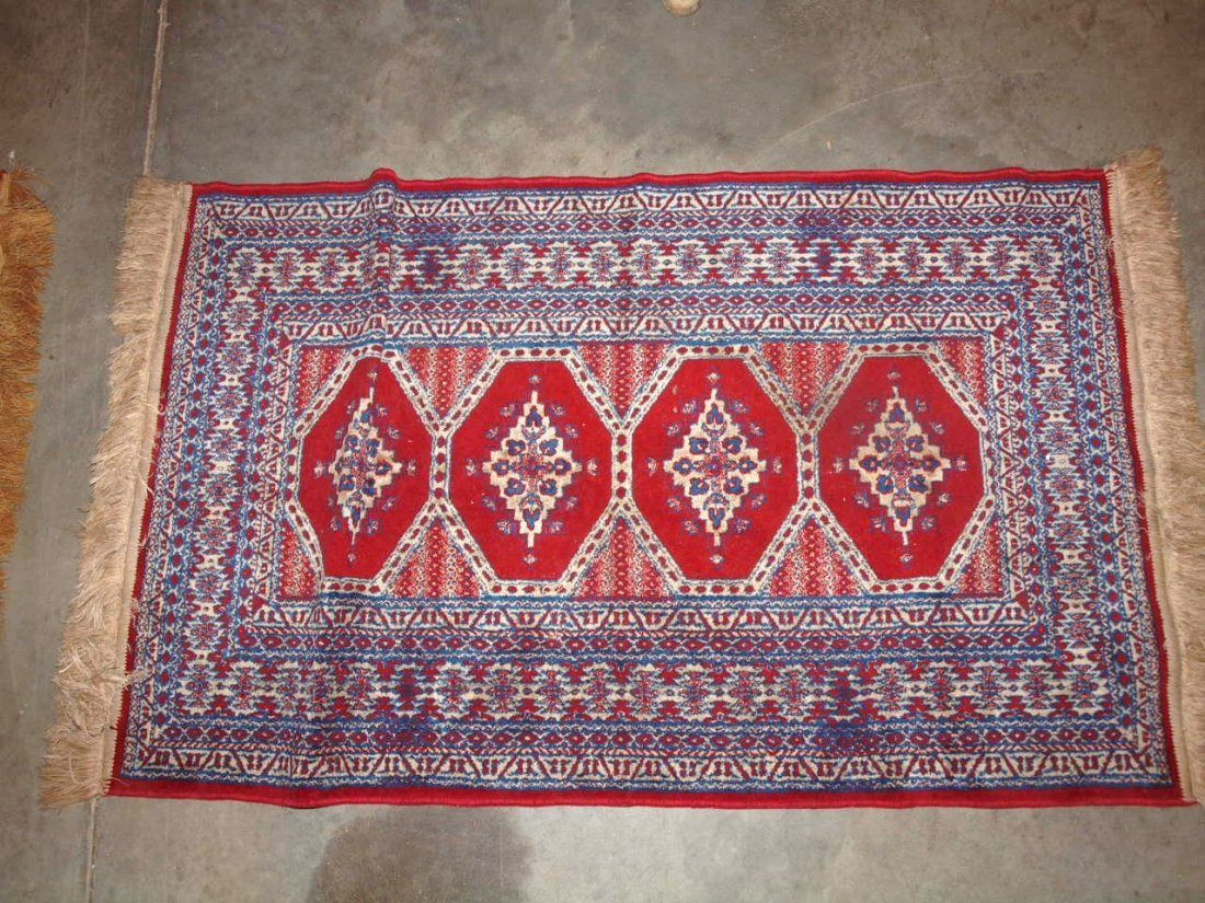 Two oriental style rugs/table covers