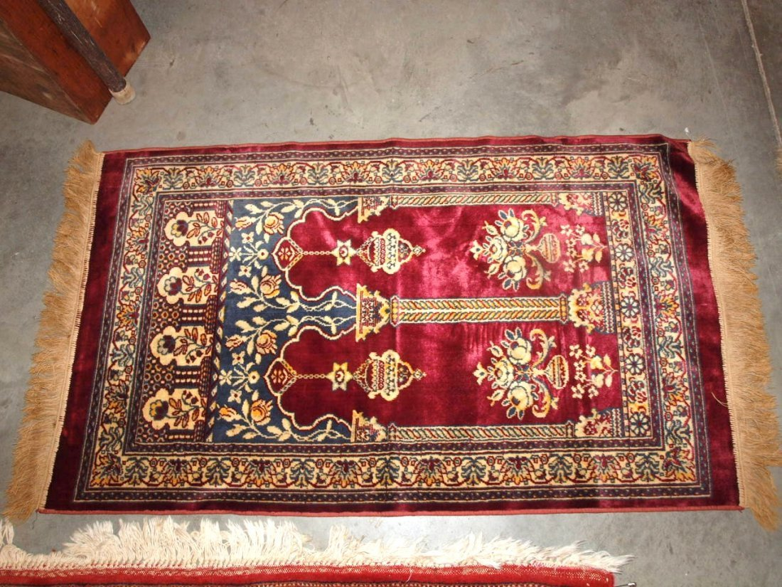 Two oriental style rugs/table covers - 2