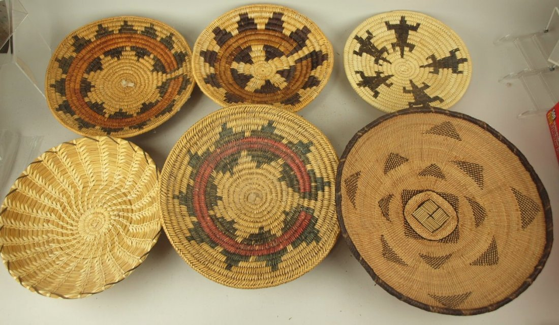 Native American Indian lot of 6 baskets