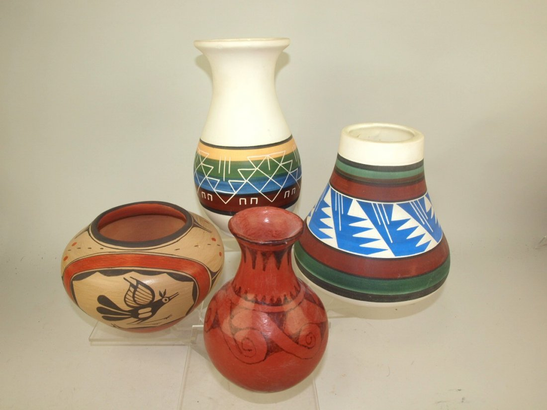 Southwest Native American Indian lot of 4 pottery