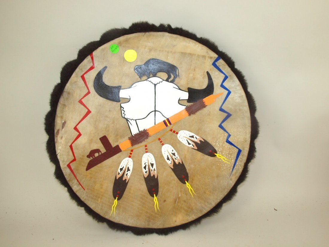 Indian leather shield wall hanging