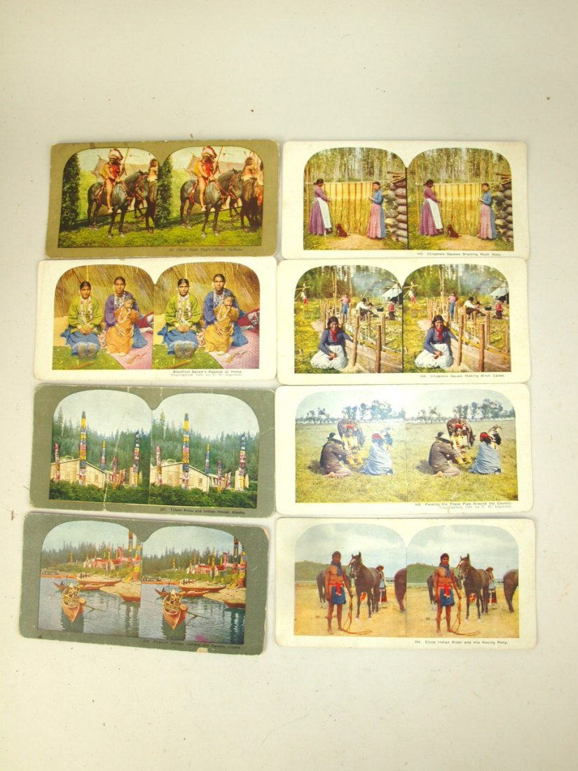 Lot of 16 Native American Indian stereo view cards - 2
