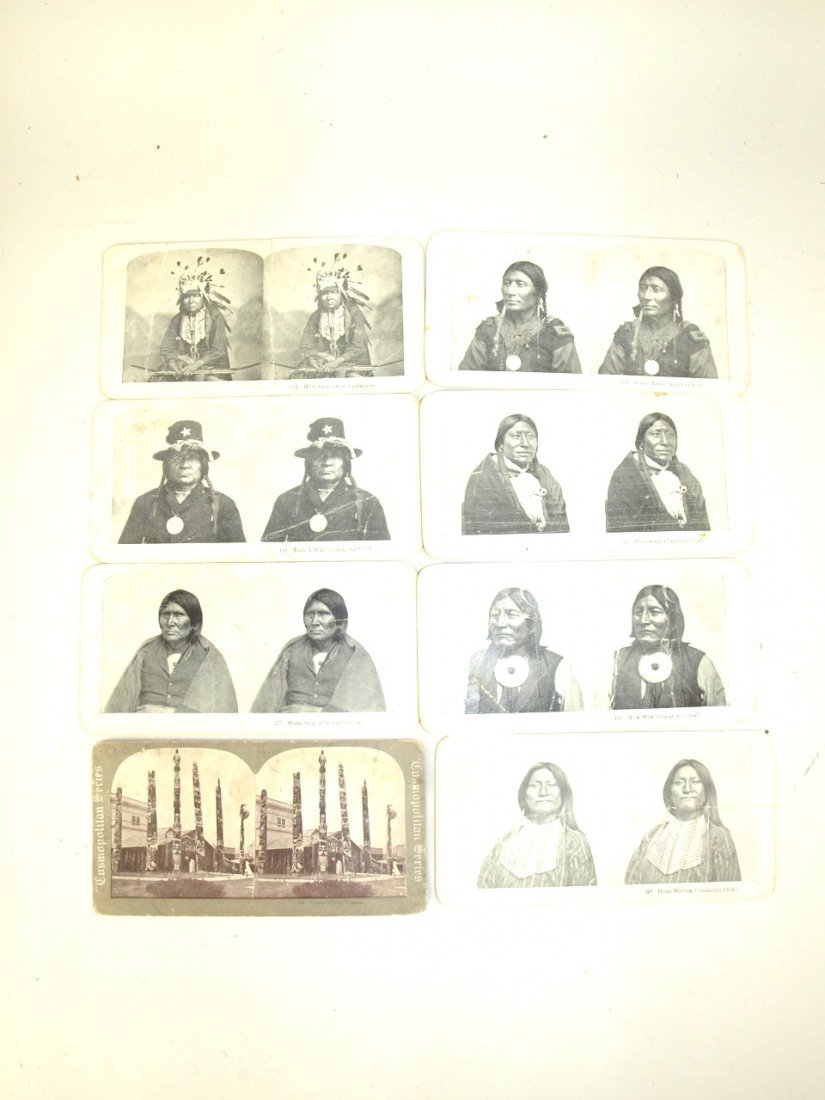 Lot of 16 Native American Indian stereo view cards - 3