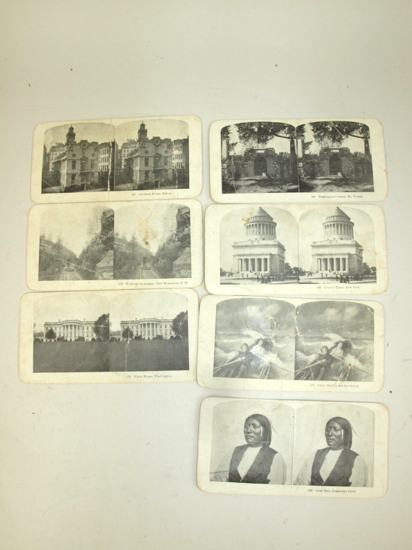 Lot of 16 Native American Indian stereo view cards - 4