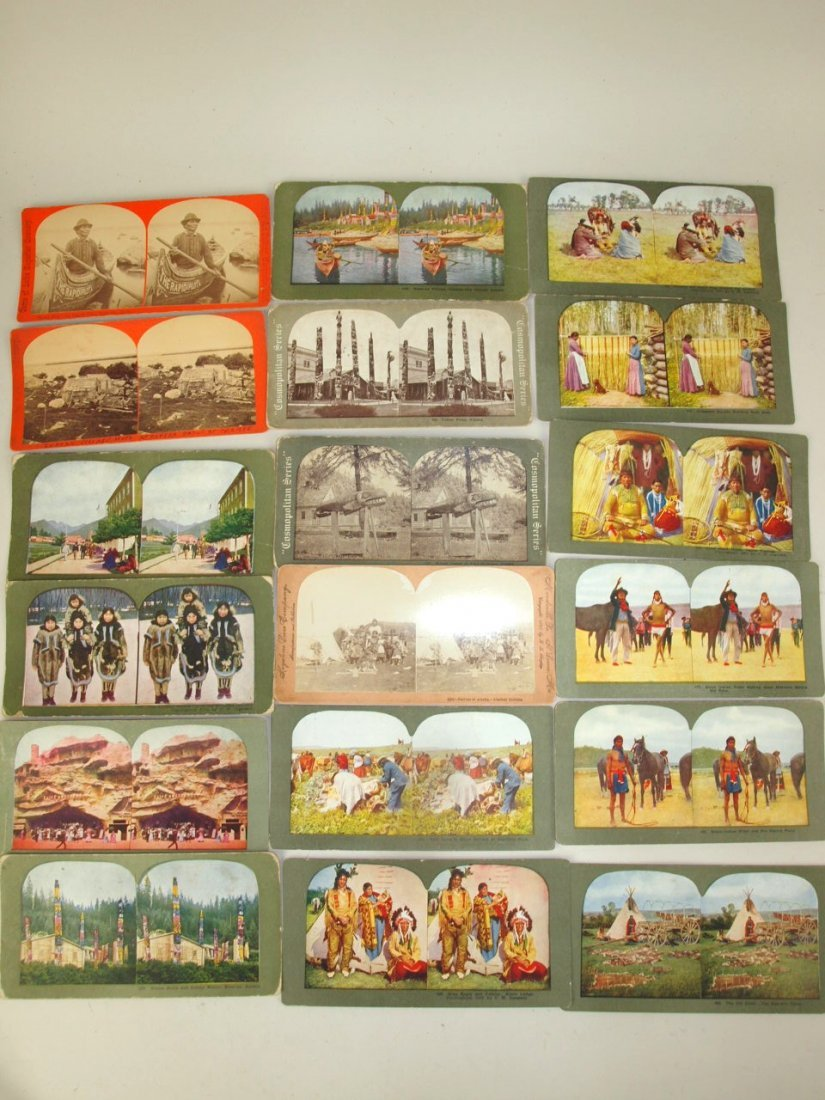 Stereoview cards of American Indians, 53 cards - 2
