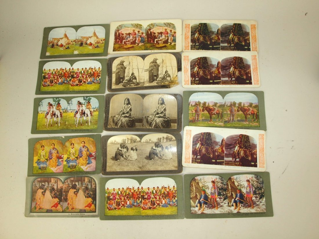 Stereoview cards of American Indians, 53 cards - 3