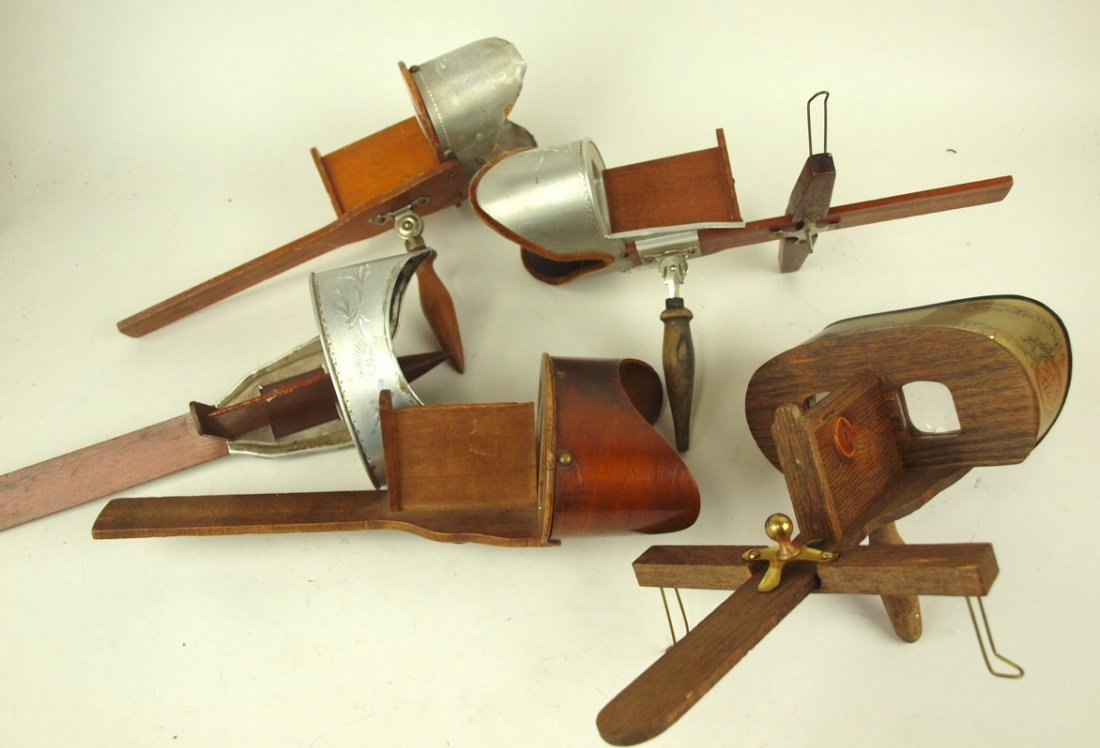 Lot of 5 stereoviewers, some with parts lacking