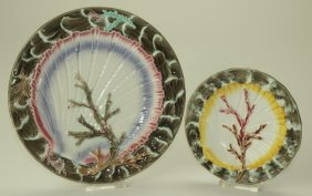 """Wedgwood majolica Argenta Ocean pattern 8 3/4"""" plate"""