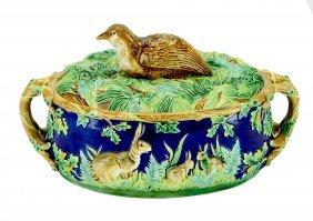 A charming George Jones MajolicaGame Pie Dish &