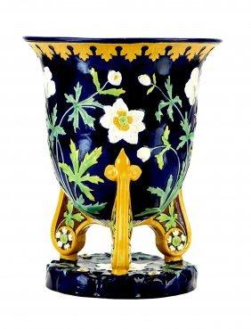 AMinton Majolica Jardiniere c.1875 The inverted bell