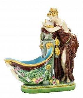 A Rare and Elegant Minton Majolica Neo-Classical