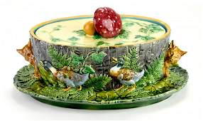 Desirable and Iconic Minton Majolica Mushroom tureen