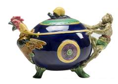 An Excellent Quality Minton Majolica 'Monkey and and