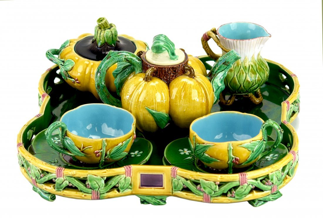 A Rare and Important Complete Minton Majolica